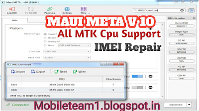Maui META Latest MTK Tool Free Download