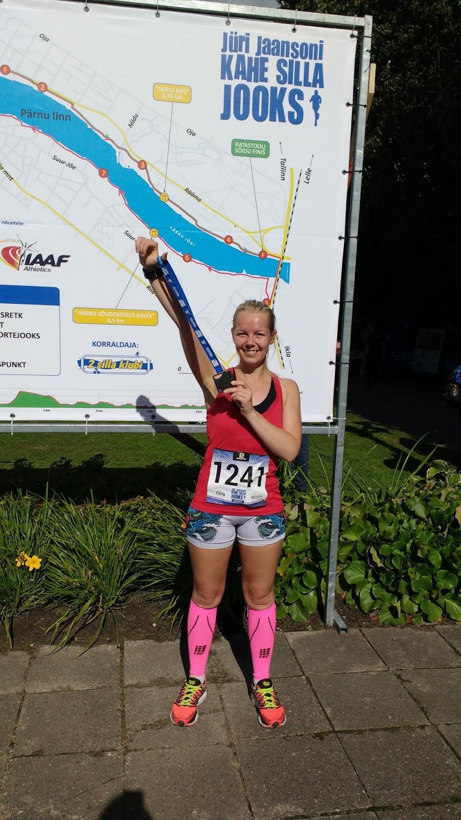 c6eea03f548 Pärast jooksu, näost lillam. Medal on raske ja kandiline.
