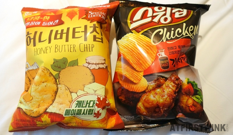 haitai calbee honey butter chip maple syrup ribbed chicken sauce potato chips Korea