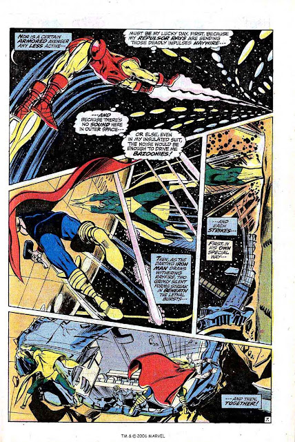 Avengers v1 #96 marvel comic book page art by Neal Adams