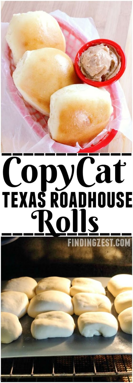 Copycat Texas Roadhouse Rolls and Cinnamon Butter Recipe