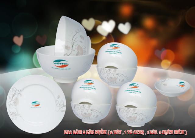 nhận in logo lên bát đĩa gốm sứ Bát Tràng giá rẻ