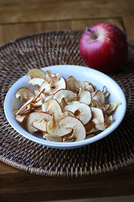 Crispy apple slices
