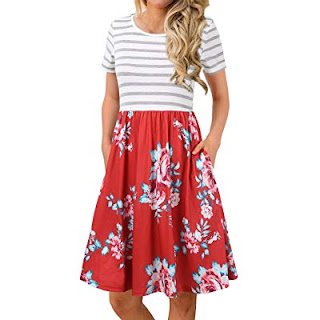 Buy Women's Short Sleeve Floral Dresses From Amazon Through Online