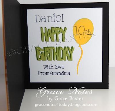 Dino-mite b-day card, inside. By Grace Baxter