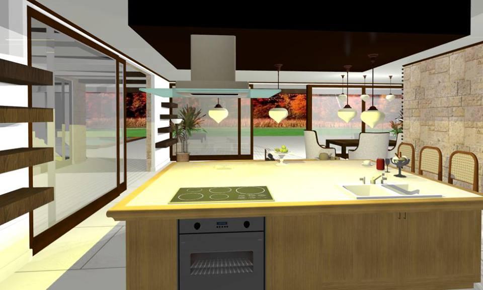 design interior bucatarie tip insula