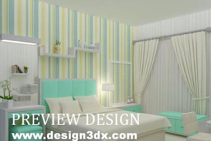Preview desain kamar tidur ibu dan anak nuansa hijau muda