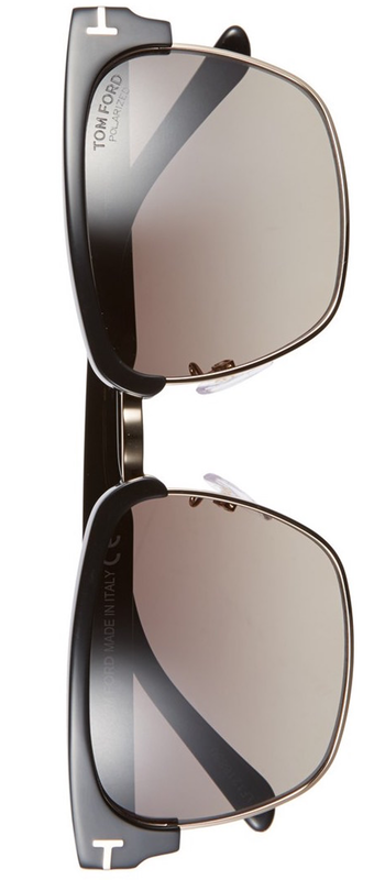 Tom Ford 'River' 57mm Polarized Sunglasses