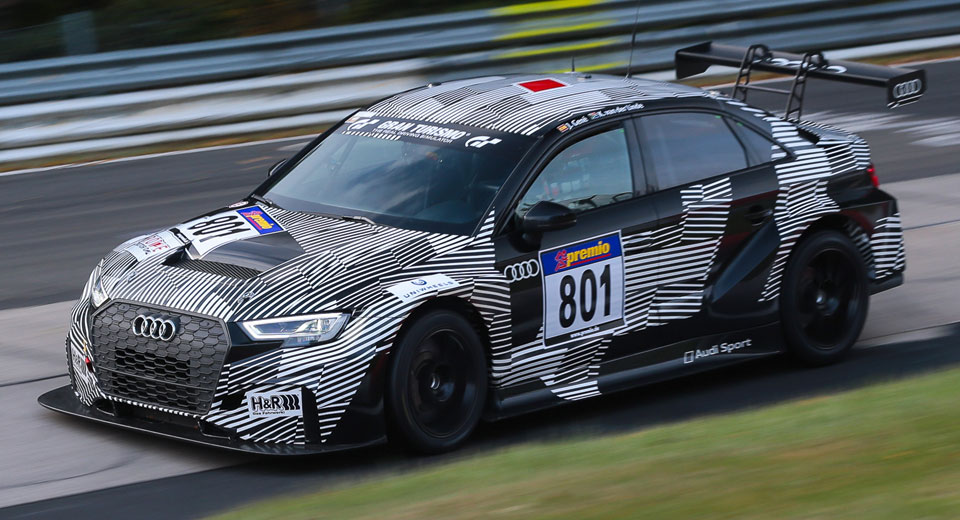 audi rs3 lms wins at the nurburgring right out of the box. Black Bedroom Furniture Sets. Home Design Ideas