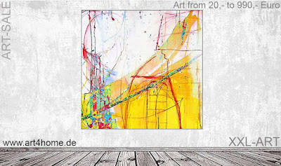 großformatige Acrylbilder, Berliner Künstlerateliers
