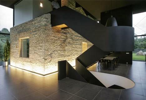 gambar desain rumah minimalis 2 lantai kolam renang foto