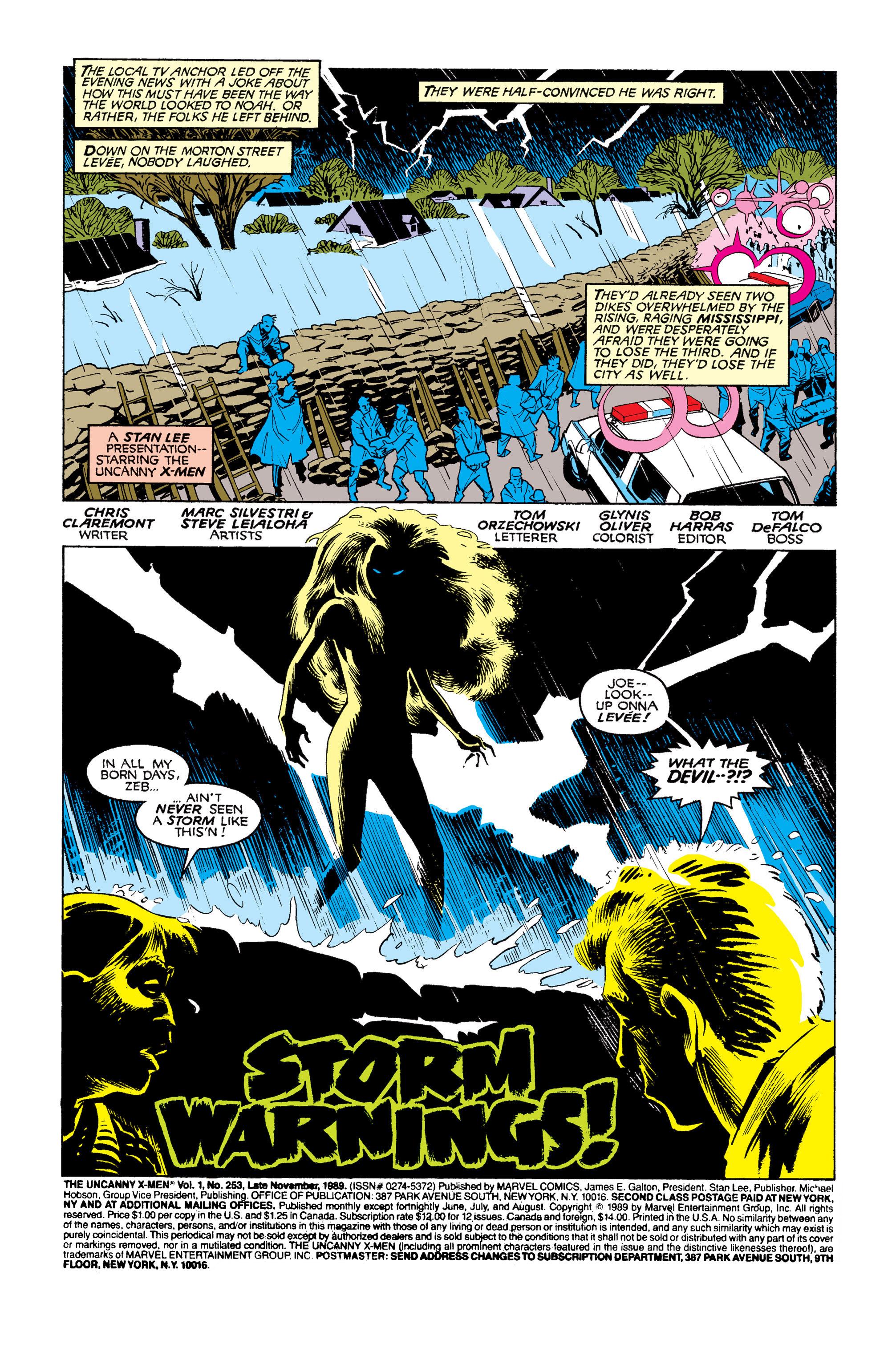 Read online Uncanny X-Men (1963) comic -  Issue #253 - 2