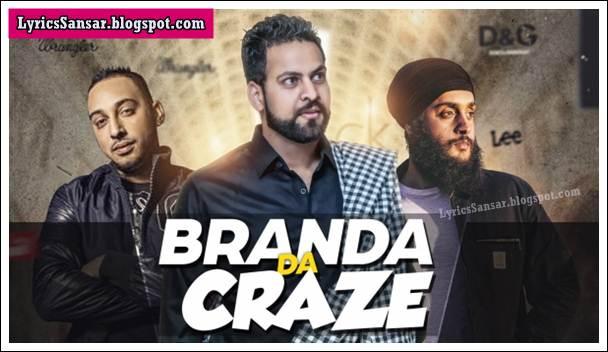Branda Da Craze Lyrics : Fateh & Romie Gill