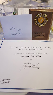 Huntun Tai Chi™ - Certificate and Plaque for Outstanding Achievement Award