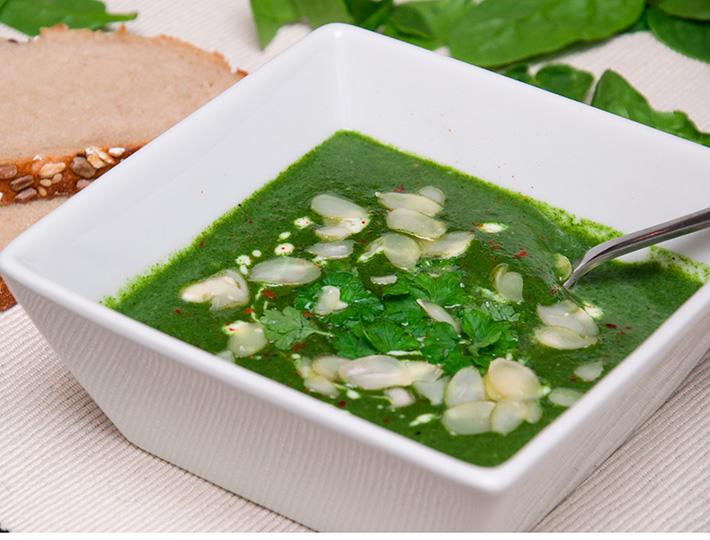 Rezept Spinatsuppe vegan und einfach mit Kokosmilch