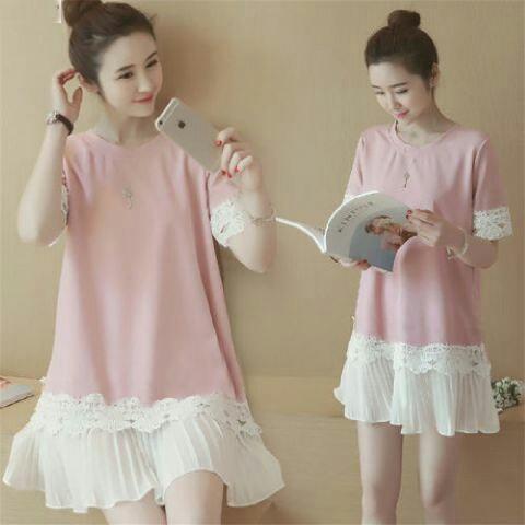 Jual Dress Marsha Pink Dress - 12917