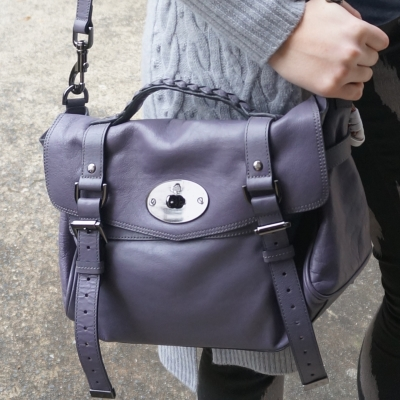 Mulberry regular Alexa bag in foggy grey | Away From The Blue