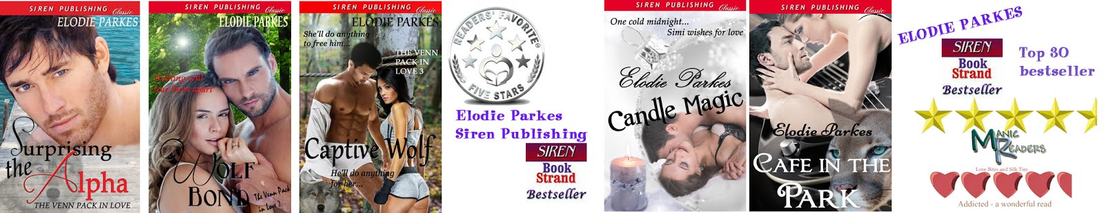 Elodie Parkes paranormal romance from Siren