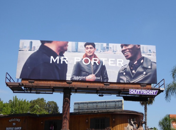 Mr Porter FW17 fashion billboard