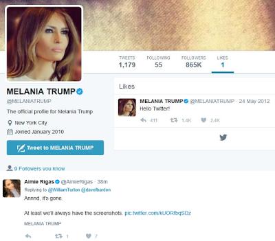 VIRAL TWEET: Melania Trump 'mistakenly' likes an Anti-Trump tweet