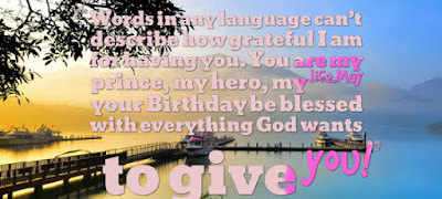 Happy Birthday wishes quotes for son and: words in any languagecan't