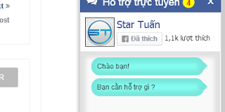 Code Tạo hộp chatbox hỗ trợ online cho fanpage facebook