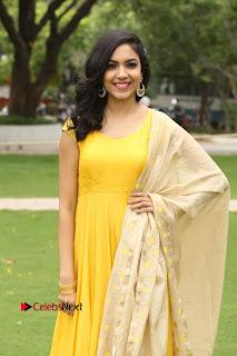 Actress Reetu Varma Stills in Yellow Salwar Kameez at Pelli Choopulu Success Meet  0090.jpg