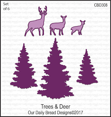 ODBD Custom Die: Trees & Deer