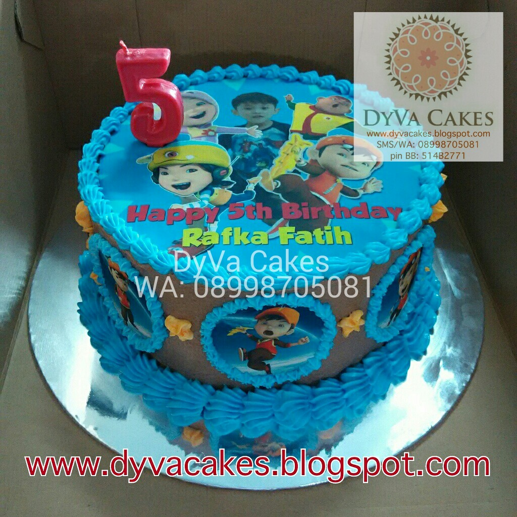DyVa Cakes Boboiboy Birthday Cake with edible image
