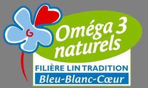 logo bleu blanc coeur riche en oméga 3