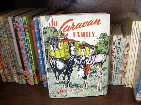 Enid Blyton The Caravan Family The library at Killerton house