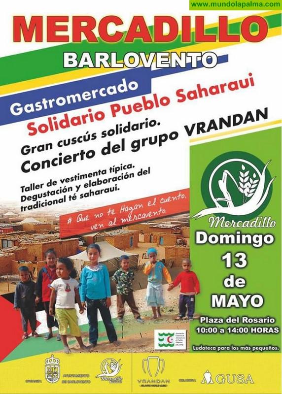 Mercadillo Barlovento Gastromercado Solidario Pueblo Saharaui