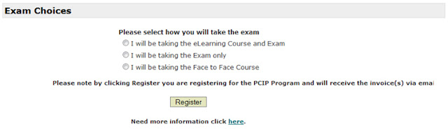 PCIP Exam Choices