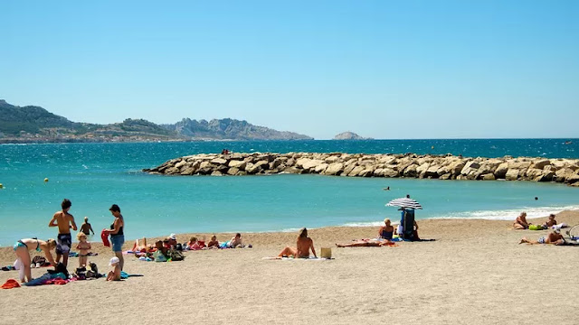 Praia do Prado em Marselha