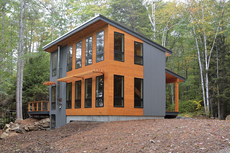 The little living blog modern maine cottage for Maine cottage house plans