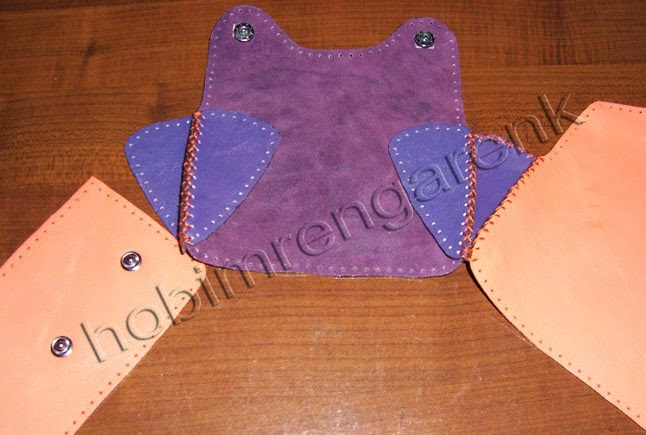 Purple Leather Wallet