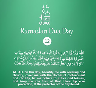 Clothes of Contentment & Chastity [Daily Supplications for 30 Days of Ramadan] Dua Twelveth Day of Ramadan 2018 (Ramzan 2018)= Cloths of Contentment & Chastity