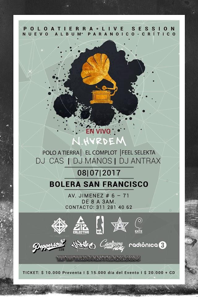 Lanzamiento del Nuevo Álbum - Paranoico Crítico - POLO A TIERRA y Dj Antrax   Bogota    8 de julio, 2017