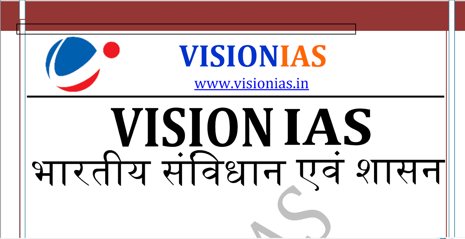 Vision IAS Polity & Governance Notes pdf Hindi