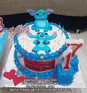 Birthday Cake Ulang Tahun Stitch Kartun