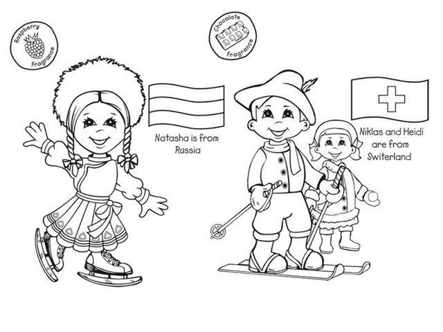 Dibujos De Las Culturas Del Mundo Para Colorear: Clasedereli: Niños Del Mundo