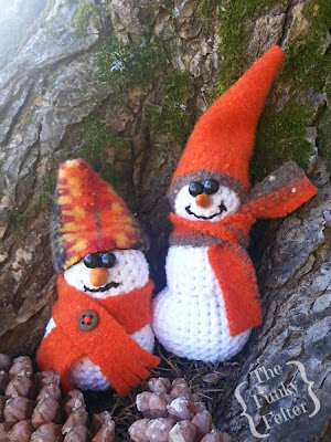 free crochet snowman patterns by the funky felter