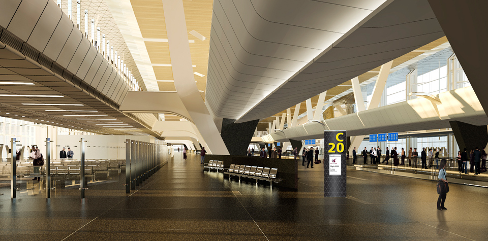 Airport Doha Abflug