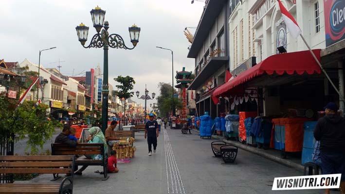 Jalan Malioboro Jogjakarta Pagi Hari