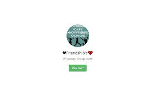 Friendship whatsapp group link