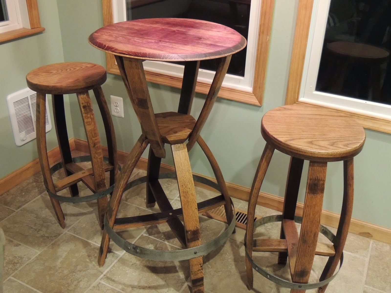 Cork To Barrel: Wine Barrel Bistro Table