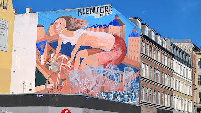 Copenhagen Biking Mural on Nørrebrogade.