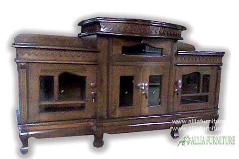 meja bufet tv kayu jati model karimun 1