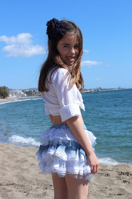 moda infantil, falda volantes verano 2016