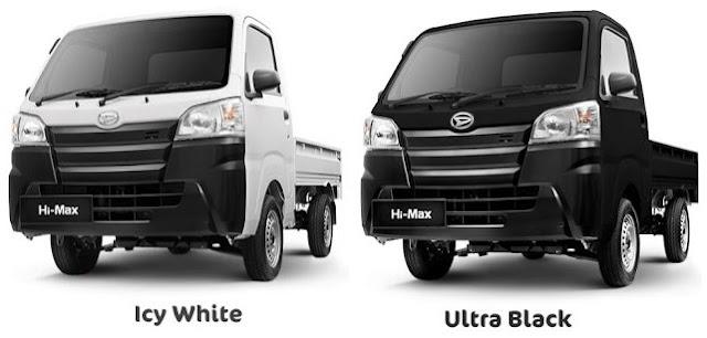 Pilihan Warna Daihatsu Hi Max - Ultra Black & Icy White